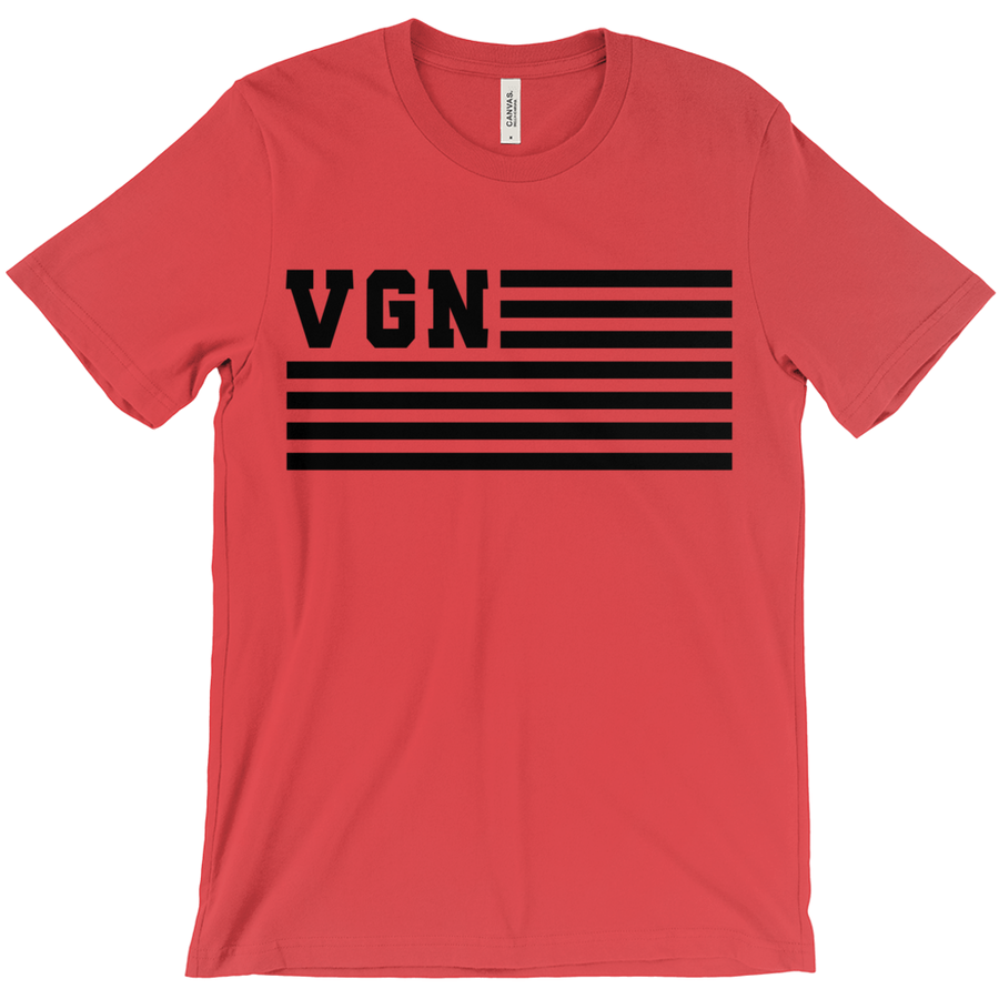 Men's VGN Flag T-Shirt - PrimaVegan