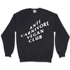 Men's Anti Carnivore Vegan Club Sweatshirt - PrimaVegan