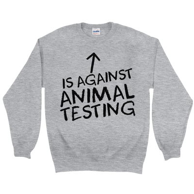 Women's Against Animal Testing Sweatshirt - PrimaVegan