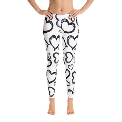 Hearts Leggings - PrimaVegan