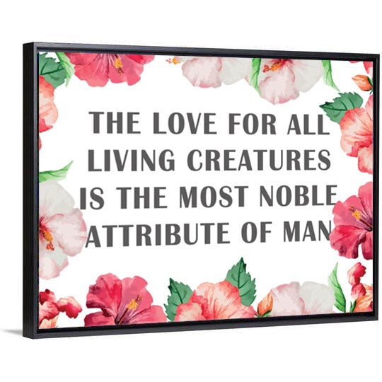 The Most Noble Attribute Canvas - PrimaVegan