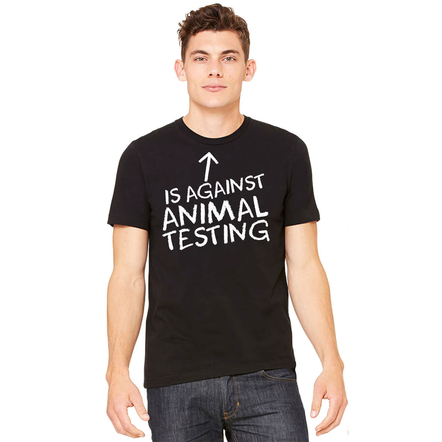 Men's Against Animal Testing Shirt - PrimaVegan