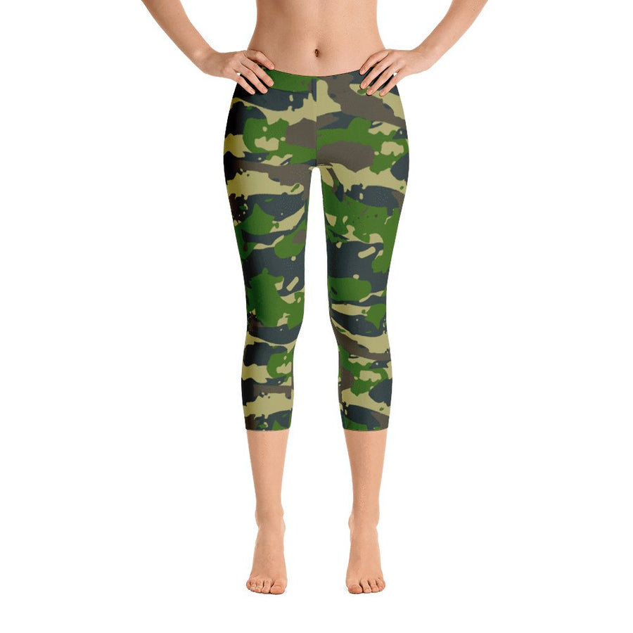 Camo Capri Leggings - PrimaVegan