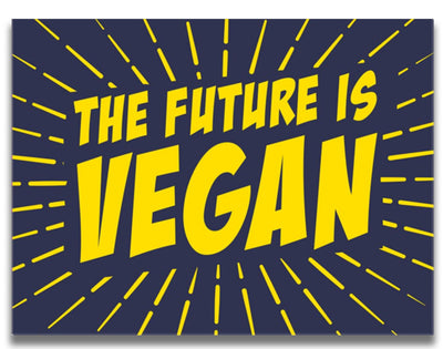 The  Future Is Vegan Canvas - PrimaVegan