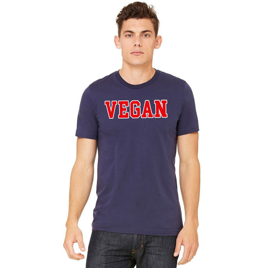 Men's Vegan College T-Shirt - PrimaVegan