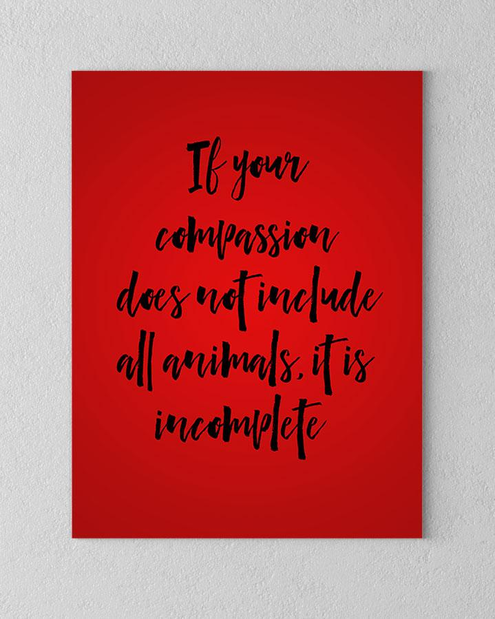 Compassion includes all Animals Canvas - PrimaVegan