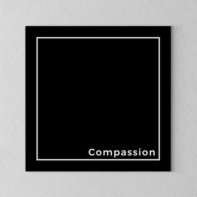 Compassion Minimalistic Canvas - PrimaVegan