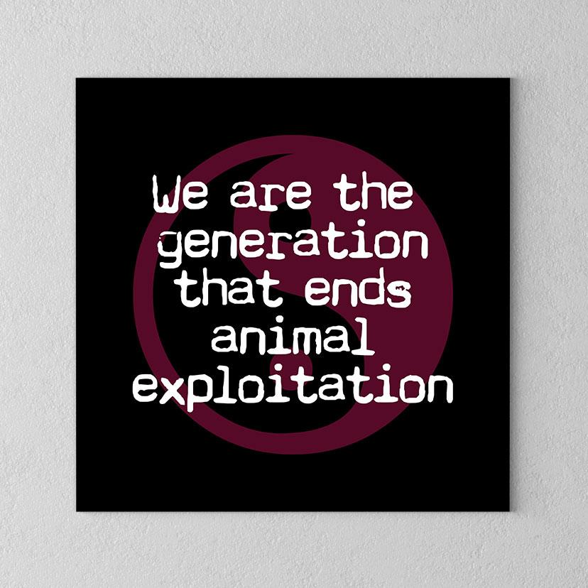 The Generation that Ends Animal Cruelty Canvas - PrimaVegan