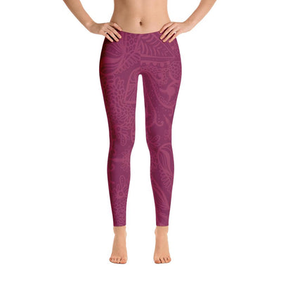 Purple Patterns Leggings - PrimaVegan