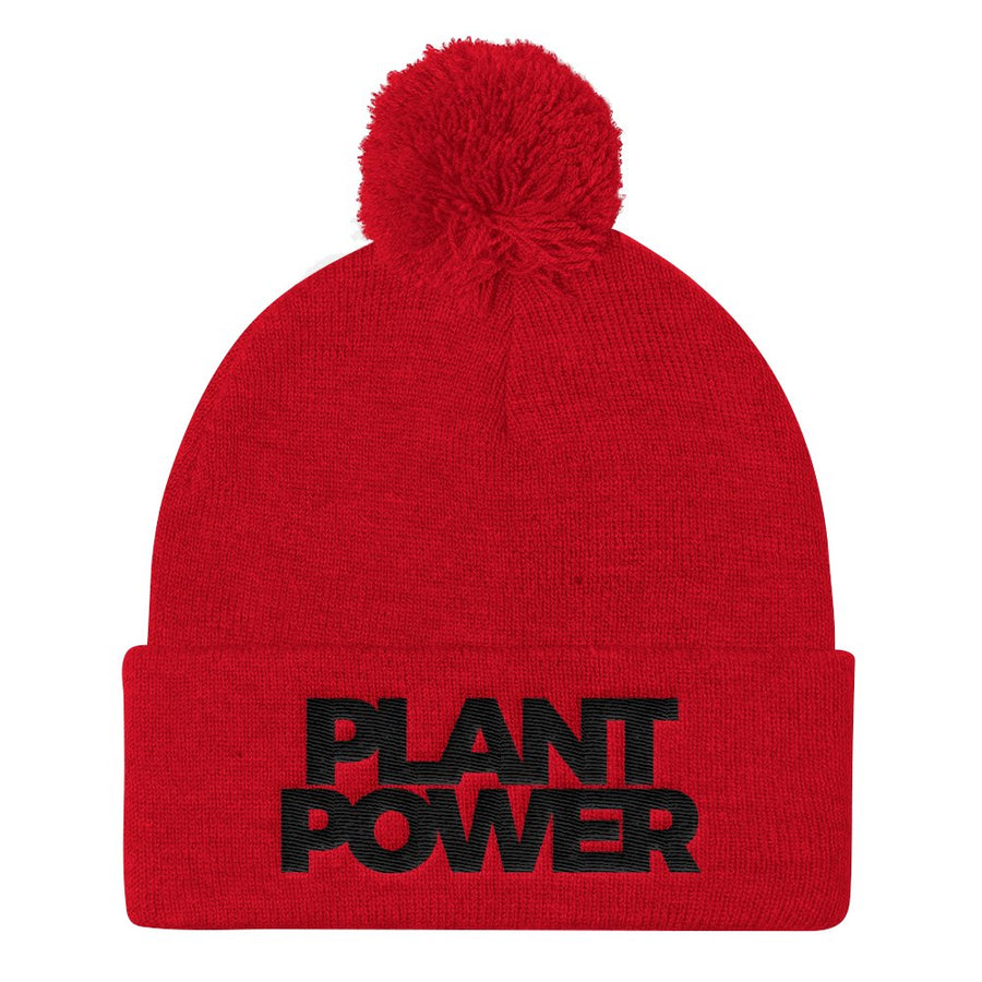 6c5a395c84a Vegan Double Black Hat 3D  29.99 · Plant Power Pom Pom Beanie - PrimaVegan