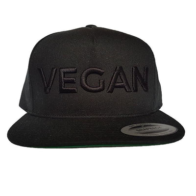 Vegan Double Black Hat 3D - PrimaVegan