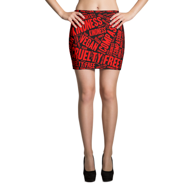 Vegan Values Mini Skirt - PrimaVegan