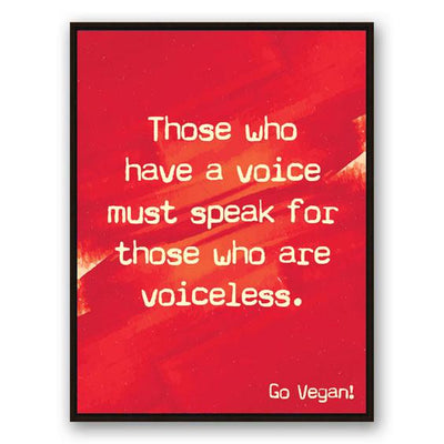 Voice of the Voiceless Canvas - PrimaVegan