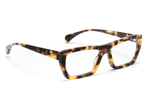 Jacques Durand tortoise eyeglasses with matte finished frame front