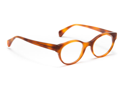Jacques Durand light tortoise acetate frame
