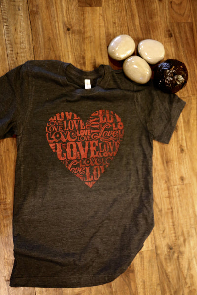 Love/ Heart Ladies tee/Gifts for her/Valentine gift/valentine day/be mine shirt/Love her
