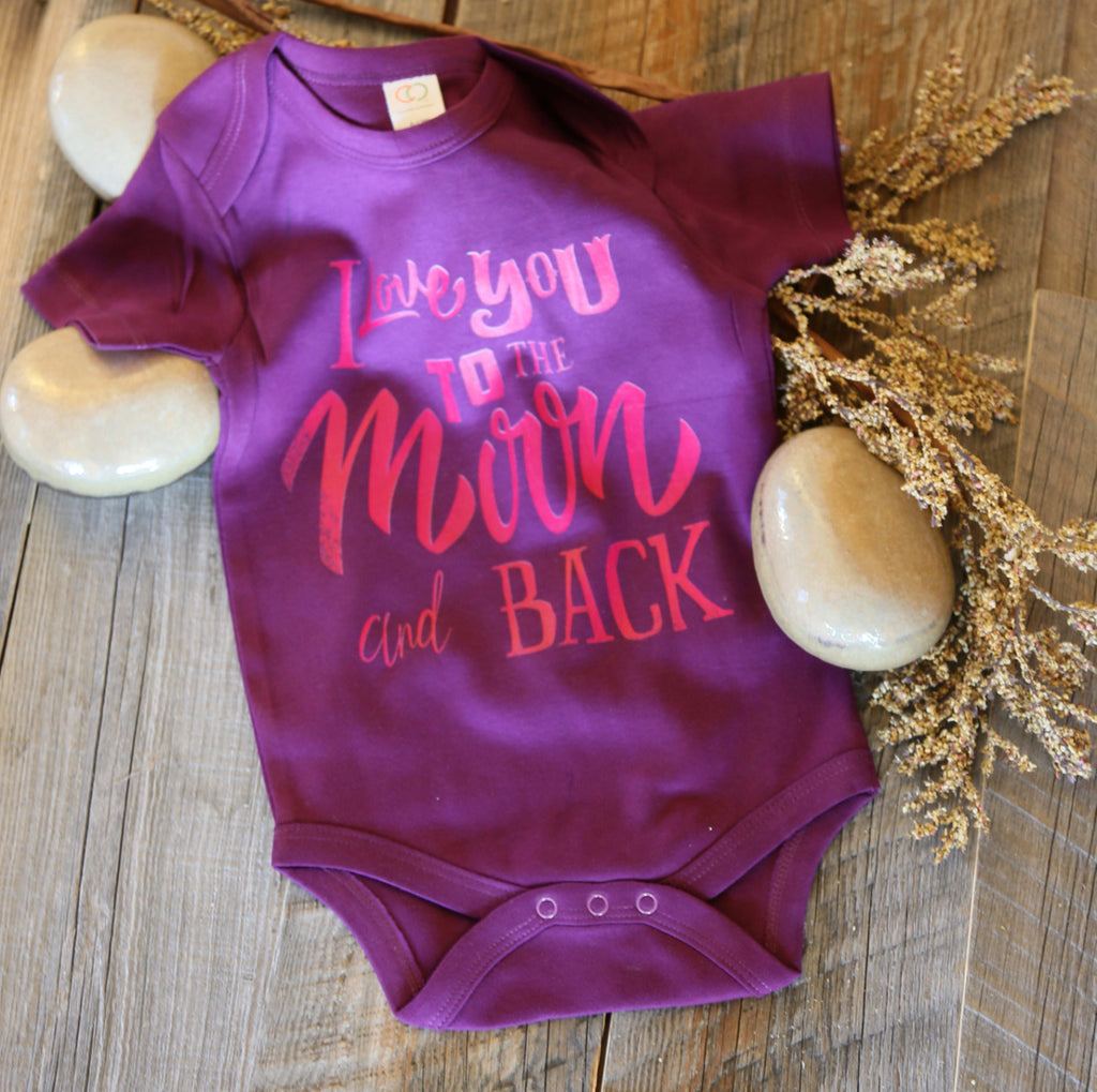 Love to the moon and back bodysuit/Newborn/baby shower gift/organic baby wearables/baby gift/infant wearables/ infant bodysuit
