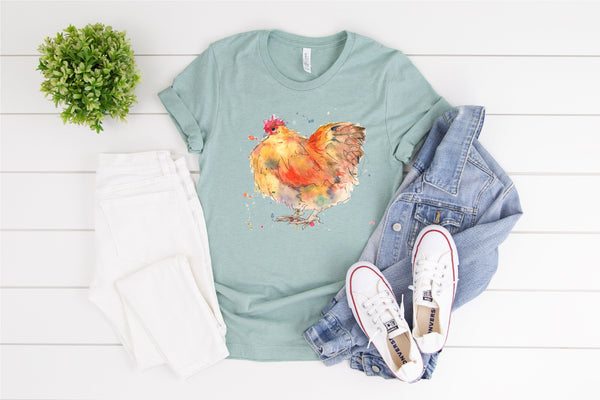 Chicken Shirt/Country Life Tee/Chicken lover Gift/Vintage Tshirt/Farm Animal Shirt/Crazy Chicken Lady T-shirt/Spirit Animal Tee