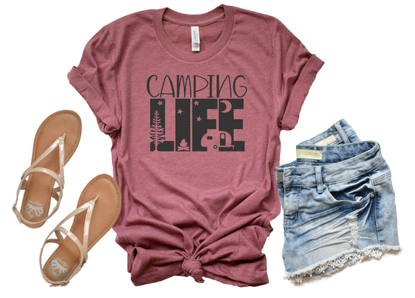 ing Life/Camping shirt/Camping with a chance of drinking shirt/funny camping shirt/Camping tee/Camp/Country Life Tee/Vintage T-shirt