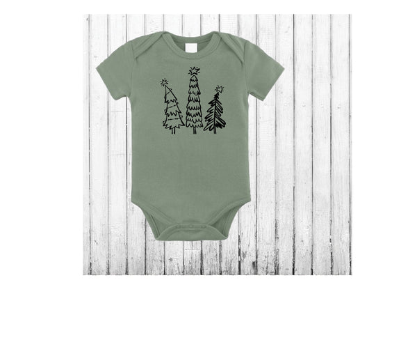 Christmas infant wearables, organic cotton Bodysuit, Baby Kids Holiday Shirt, baby gift, 1st Christmas outfit