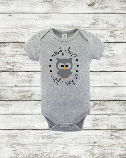 Baby/Baby clothes/Owl Bodysuit/Baby outfit/funny baby outfit/baby shower/Baby shop/cute infant apparel/baby gift/infant wearables