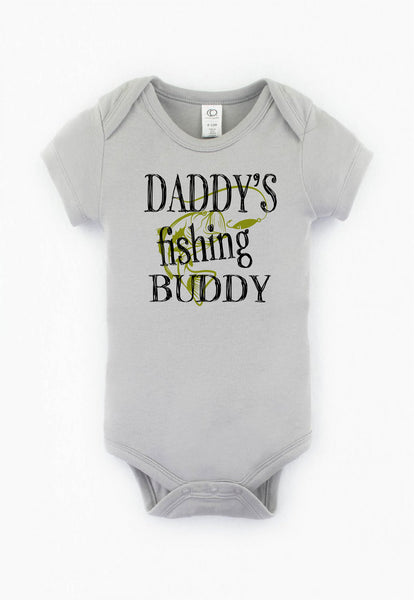 Daddy's fishing buddy/Baby/Baby outfit/funny baby outfit/baby shower/Baby shop/cute infant apparel/baby gift/baby outfit/infant wearables