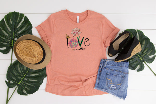 Love, Love one another, Inspiring shirt,  Ladies shirt, gift for her, mom shirt, Love shirt, funny shirt, Inspirational shirt