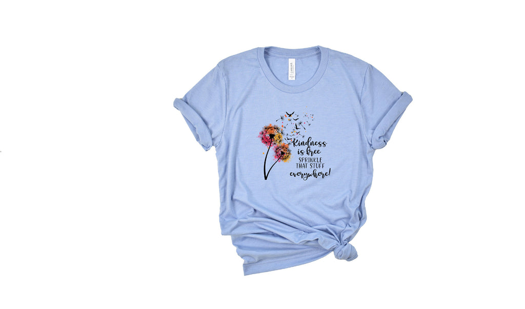 Kindness shirt, Dandelion shirt, Vintage T-shirt, Ladies Shirt, Be Kind  t-shirt,  Be kind, Peace tee, Hippie T Shirt