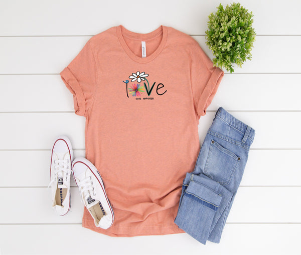 Love, Love one another, Daisy, Inspiring shirt,  Ladies shirt, gift for her, mom shirt, Love shirt, funny shirt, Inspirational shirt