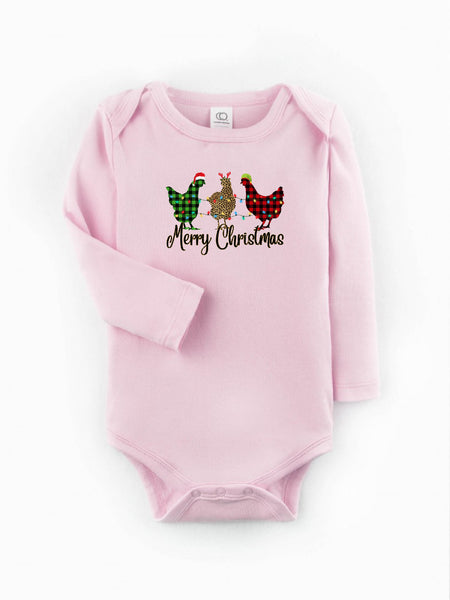 Christmas/Christmas chickens/Baby/Montana/baby shower/Baby shop/cute infant apparel/baby gift/baby outfit/infant wearables/Mountains/