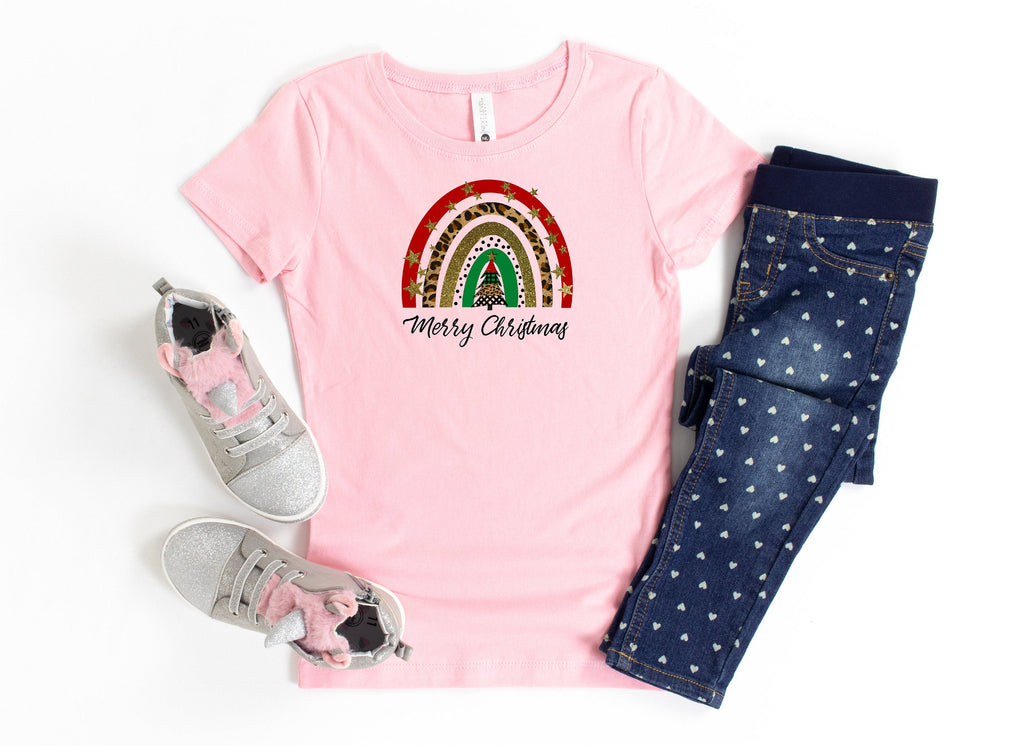 Youth Christmas, Merry Christmas, Happy Holidays youth shirt, Youth shirts, Girls tops, Girls Christmas, Rainbow youth, Rainbow Girls shirt