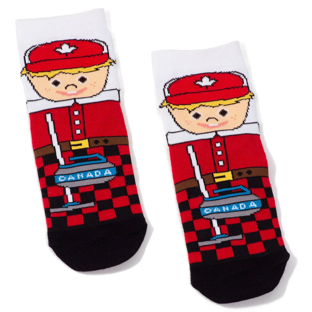 Main and Local - Childrens Curler Socks - Birch Hill Studio