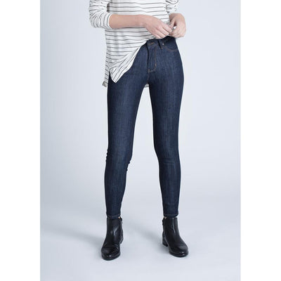 FOUR WAY FLEX DENIM HIGHT RISE SKINNY- DARK STONE