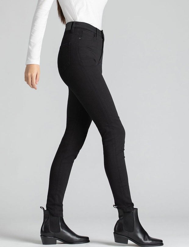 HIGH RISE SKINNY FOUR WAY FLEX - Black