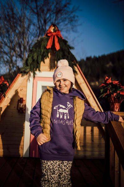 Stella Saves Kids - Purple Cow Hoodie - Birch Hill Studio