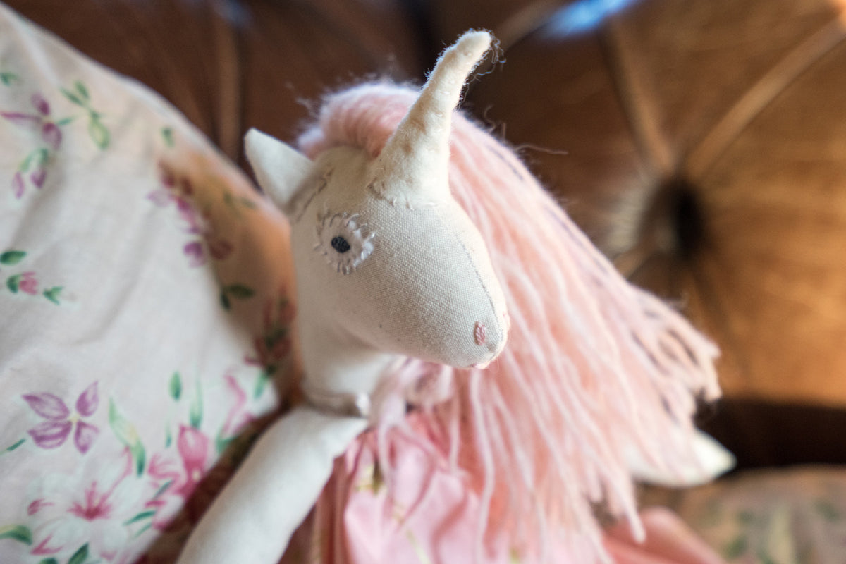Pink Unicorn Doll - Small