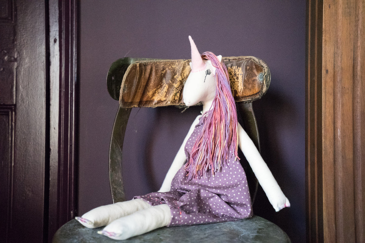 Purple Unicorn Doll - Large