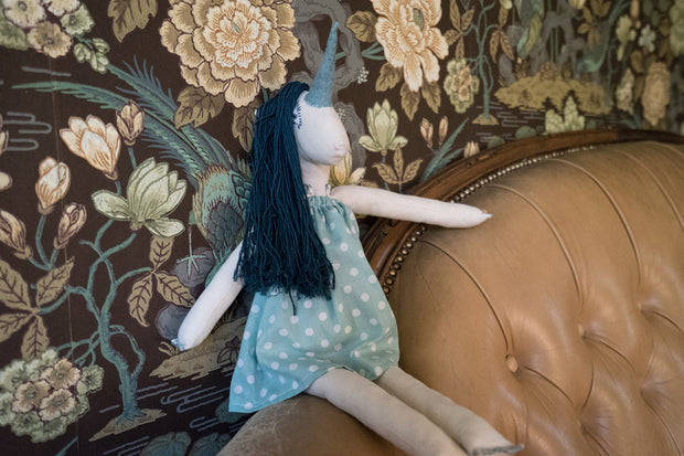 Aqua Unicorn Doll - Large