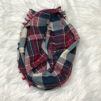 Red & Green Infinity Scarf