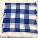 Cobalt & White Infinity Scarf