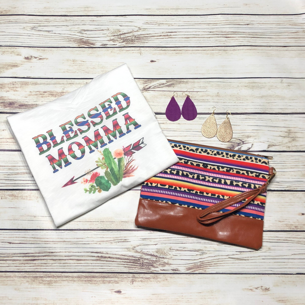 Blessed Momma V-Neck (XS-4X)