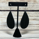 Leather Earrings Black w/ texture