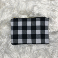 Buffalo Plaid Clutch/Bag (Black/white)