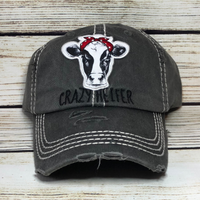 Dark Grey Crazy Heifer Hat