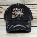 Pray Hustle Repeat Hat