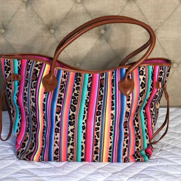 Serape & Leopard Tote or Clutch