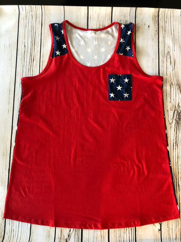 Plus size Patriotic Tank