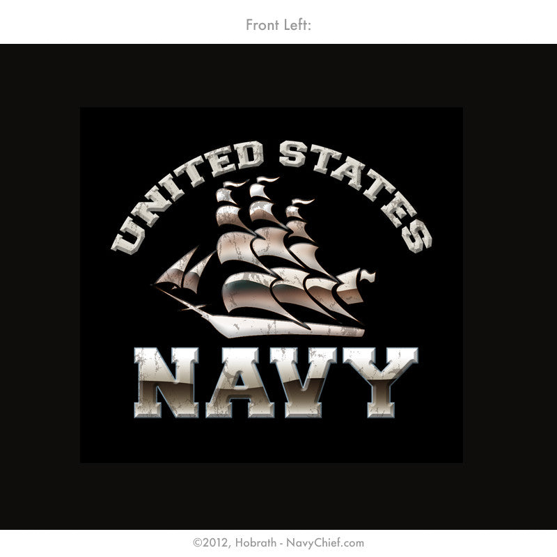 """Navy Pride"" Honor Guard T-shirt, Black - NavyChief.com"