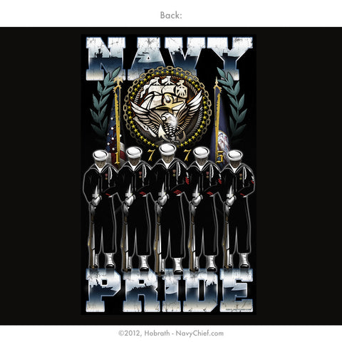 """Navy Pride"" Honor Guard T-shirt, Black - NavyChief.com - Navy Pride, Chief Pride."