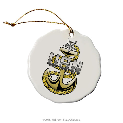 Custom Christmas Tree Ornament - NavyChief.com - Navy Pride, Chief Pride.